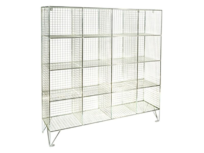Wire Mesh 16 Compartment Locker without Doors