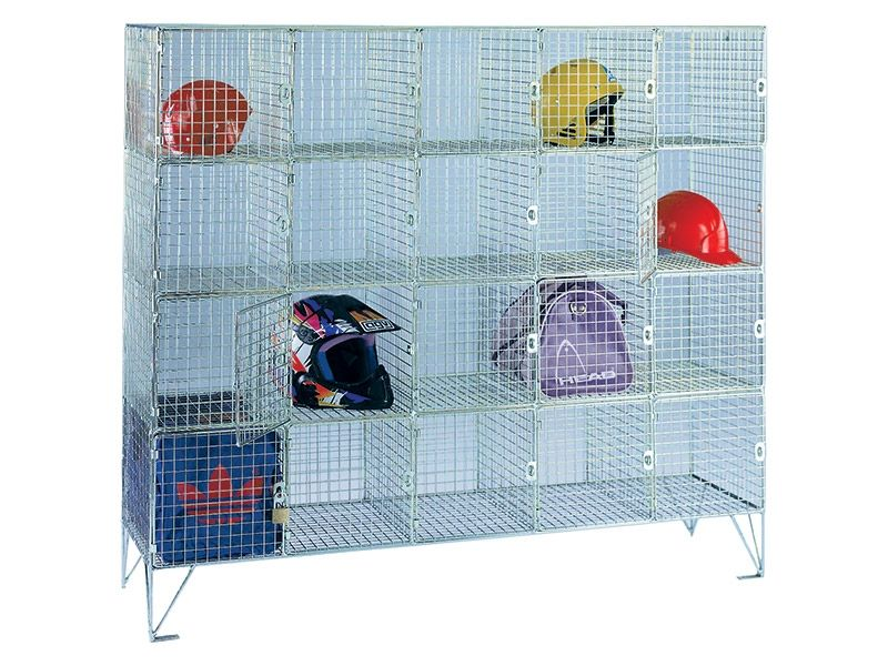 Wire Mesh 20 Compartment Locker with Doors