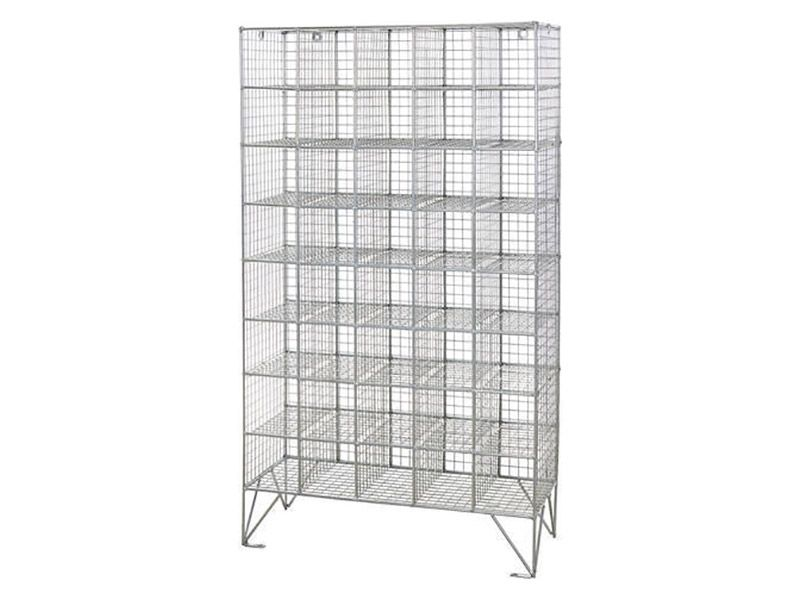 Wire Mesh 40 Compartment Locker without Doors