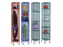 2 Door Wire Mesh Clothing Locker