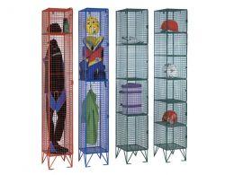 4 Door Wire Mesh Clothing Locker
