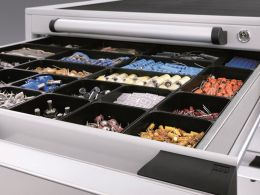 525mm Wide 10 Compartments, Plastic