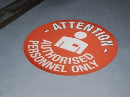 """""""Authorised Personnel Only"""" Floor Graphic Marker"""