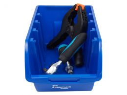 Blue Plastic Storage Bins