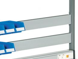 Bin Rail for TPH Series Benches (1115W)