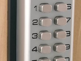 Chrome Mechanical Digital Door Lock