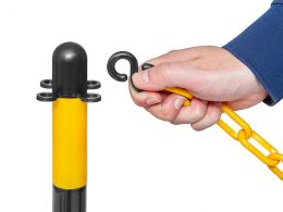 Post and Chain for Driveway (Yellow & Black)