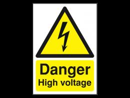 """""""Danger High Voltage"""" Prohibition Sign"""