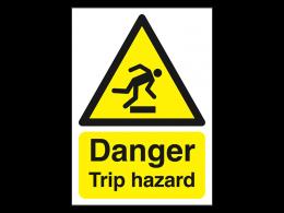 """Danger Trip Hazard"" Warning Safety Sign"