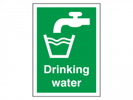 """""""Drinking Water"""" First Aid Sign"""