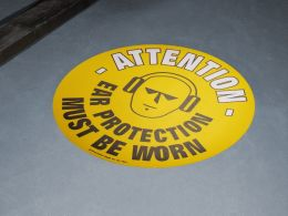 """""""Ear Protection Must Be Worn"""" Floor Graphic Marker"""