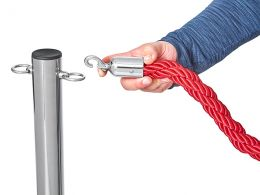 Red Ropes and Stanchions