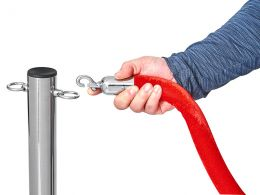 Red Velvet Stanchion Ropes