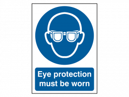 """""""Eye Protection Must Be Worn"""" Mandatory Site Safety Sign"""