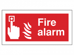 """Fire Alarm"" Fire Safety Equipment Sign"