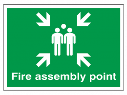 """""""Fire Assembly Point"""" Fire Exit Sign"""