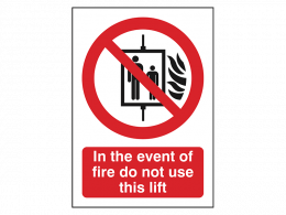 """In The Event Of Fire"" Fire Safety Equipment Sign"