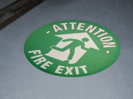 """Fire Exit"" Floor Graphic Marker"