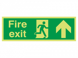 """Fire Exit Up"" Glow in the Dark Safety Sign"