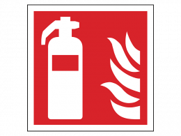 """Fire Extinguisher Symbol"" Fire Safety Equipment Sign"