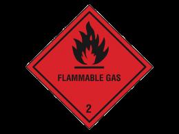 """Flammable Gas"" Hazard Warning Labels"