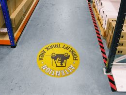 """Forklift Truck Area"" Floor Graphic Marker"