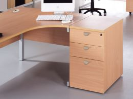 Fraction Desk High Pedestals