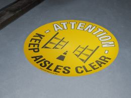 """Keep Aisles Clear"" Floor Graphic Marker"
