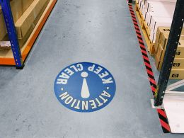 """Keep Clear"" Floor Graphic Marker"