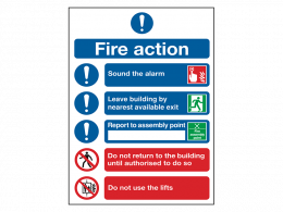 """Fire Action Notice"" Mandatory Site Safety Sign"