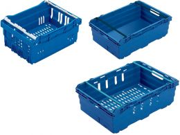 MaxiNest 15L Storage Container (Blue with White Bar)