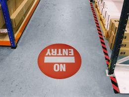 """""""No Entry"""" Floor Graphic Marker"""