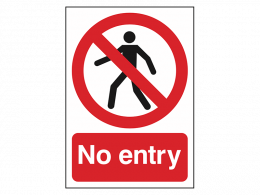 """No Entry"" Prohibition Sign"