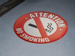 """No Smoking"" Floor Graphic Marker"