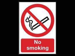 """No Smoking"" Prohibition Sign"