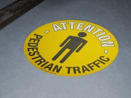 """""""Pedestrian Traffic"""" Floor Graphic Marker"""