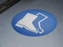 """Protective Footwear Symbol"" Floor Graphic Marker"