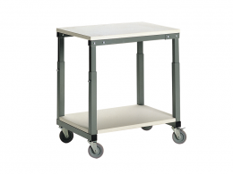 Height Adjustable Mobile Bench (700W x 500D)