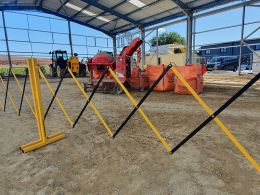 Small Expanding Safety Barrier