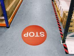 """""""Stop Symbol"""" Floor Graphic Marker"""