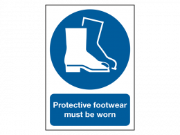 """""""Wear Boots"""" Mandatory Site Safety Sign"""