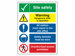 """""""Work in Operation"""" Construction Site Safety Board"""
