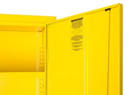 Yellow Hazardous Wall Cabinets