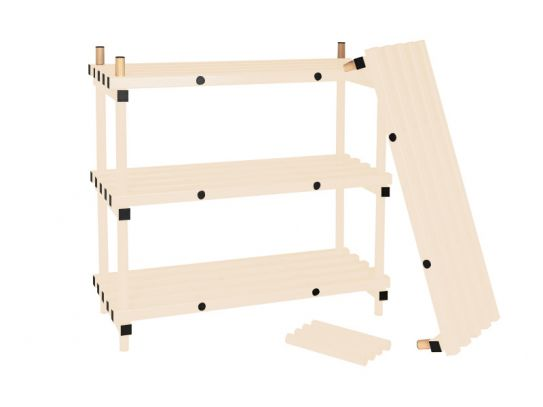 1050mm High Plastic Shelving