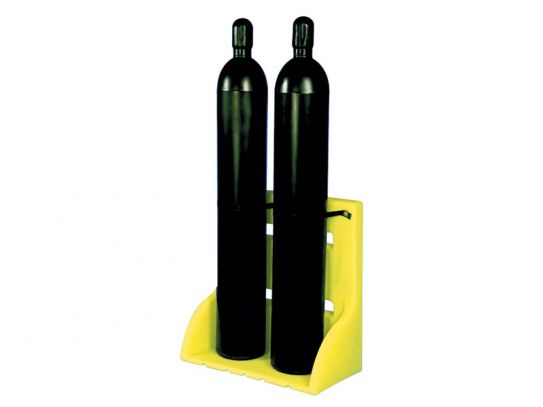 2 Gas Cylinder Poly Stand