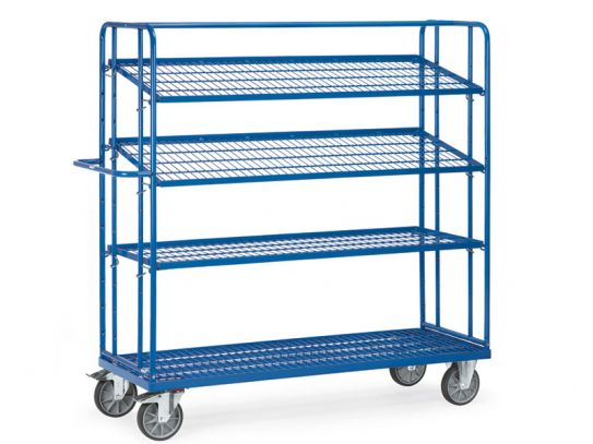 4 Wire Shelf Container Trolley