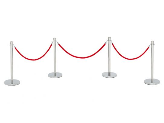 Red Velvet Rope Stanchions