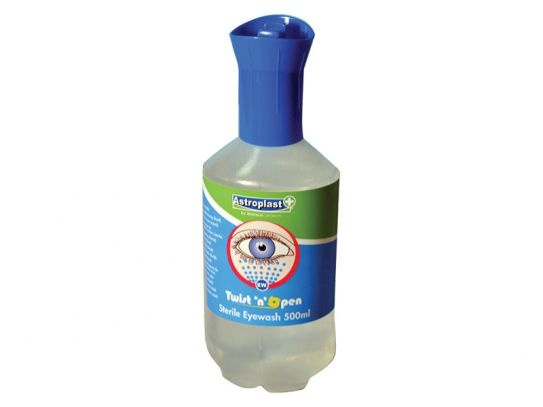 Emergency Eyewash Twist 'N' Open Bottle