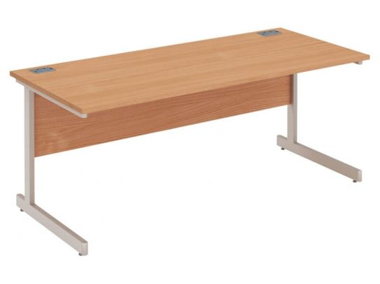 Fraction Plus Rectangular Cantilever Leg Desk