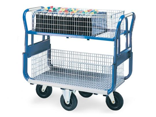 Gt3 Platform Trolley with 2 Long Baskets